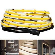 COB LED Strip Light 480 Chips/M High-Density Flexible COB LED Tape Lights LED Rope Light for Bedroom Home Cabinet DIY Lighting
