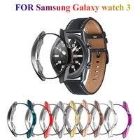 Uhr Fall Für Samsung Galaxy Uhr 3 41mm 45mm Smart Uhren Abdeckung TPU Rahmen Shell Protector Fall Smart zubehör Abdeckung