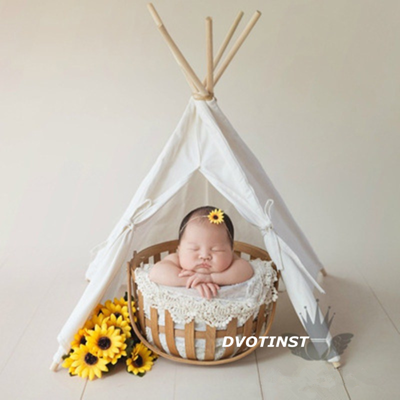 Image 2 - Dvotinst Newborn Baby Photography Props Mini Wigwam Tent Decoration Fotografia Accessories Infantil Studio Shooting Photo Prop-in Hats & Caps from Mother & Kids
