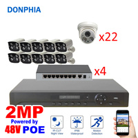 32 Camera System POE power 2MP with 32 PoE ch NVR + 10 exterior camera + 22 interior cameras +4 8Poe Switch
