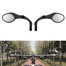 Bicycle Stainless Steel Lens Mirror Foldable MTB Handlebar Side Safety Rear View Mirror Cycling Flexible Rearview Mirrors