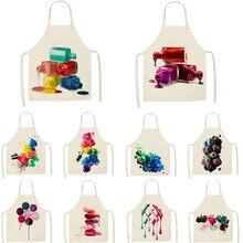 1Pcs Kitchen Apron Colorful Nail Polish women Printed Sleeve