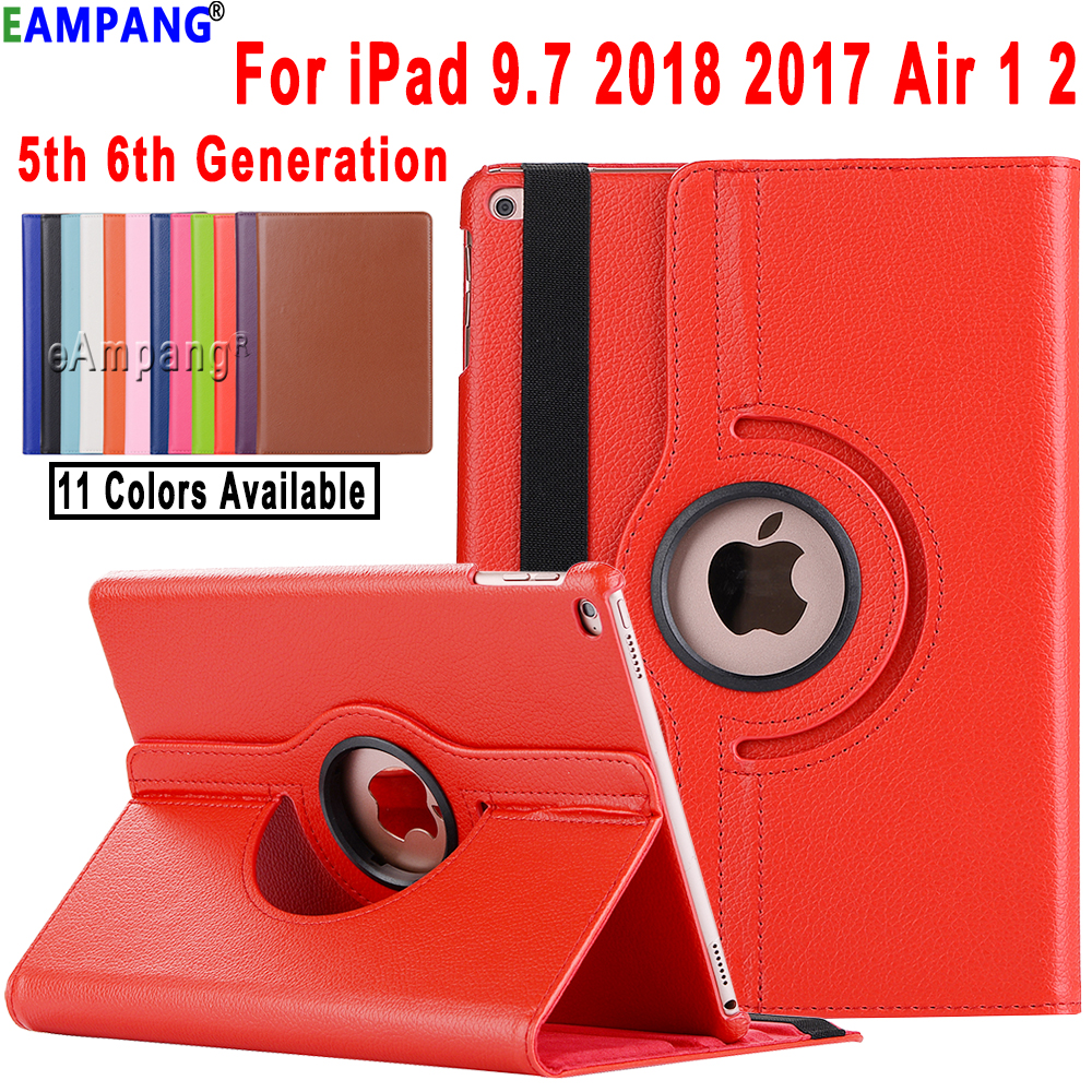For iPad Air 2 Air 1 iPad 9.7 2018 2017 Case Cover A1822 A1823 A1893 A1954 5th 6th Generation Case 360 Degree Rotating Funda