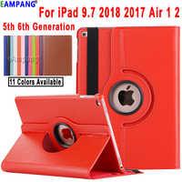 Pour iPad Air 2 Air 1 iPad 9.7 2018 2017 Housse A1822 A1823 A1893 A1954 5th 6th Génération Cas 360 Degrés Rotation Funda