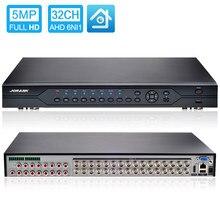 5MP 4MP 3MP 1080P 960P CCTV Kamera HI3531A 32CH 32 Kanal 6 in 1 Koaxial Hybrid NVR CVI TVI AHD DVR Überwachung Video Recorder