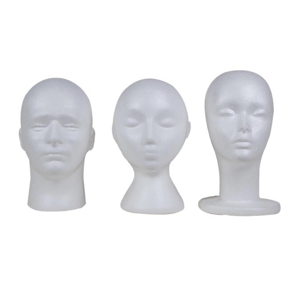 White Mannequin Head Model Sunglasses Eyeglass Stand Hat Cap Display Holder Manikin Head Wigs salon Display Styling Tool 3Styles