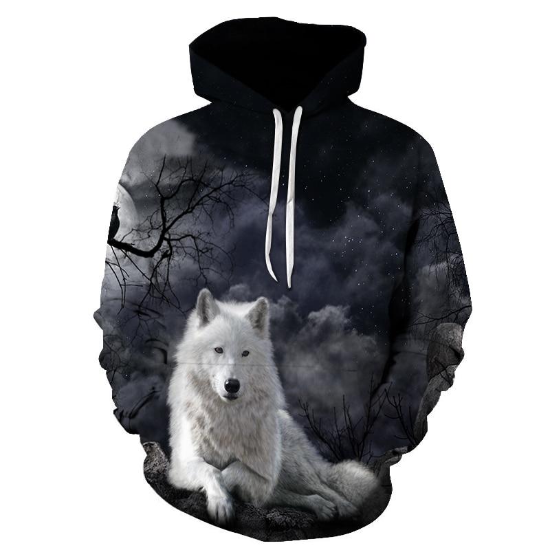2019 New Wolf Hoodie Hoodies Men Women 2019 New Fashion Spring Autumn Pullovers Sweatshirts Sweat 3D Tracksuit