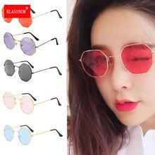 1pc Women Round Irregular Girls Colorful Lens Metal Frame Sunglasses Eyewear Glasses women Drive Goggles Anti-UV400 Fashion New