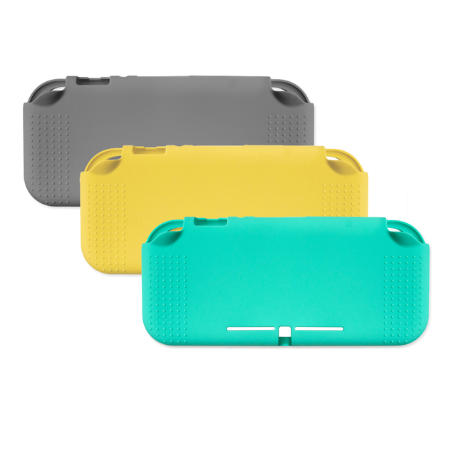 100 PCS Soft Silicon Protective case Half pack Pure colour Back Cover Shell For Switch Lite Console