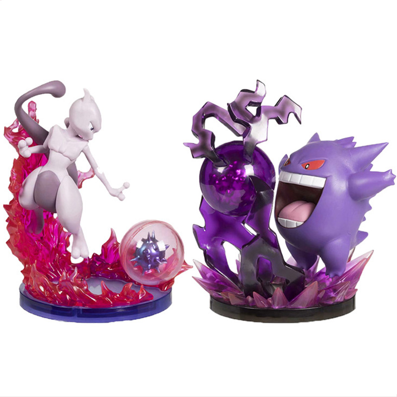 Gengar Mewtwo Anime Cartoon Action Toy Figures Collection Model Toy Car Decoration Toys Pks