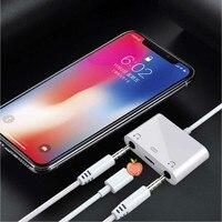 Aplicável ao iphone 78x fone de ouvido adaptador aplicável ao iphone x cabo de conversão de carregamento duplo fone de ouvido nk106a2 oem