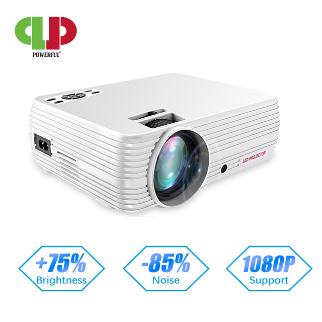 Potężne wsparcie 720P projektor X5 odtwarzacz multimedialny 3D kino domowe zagraj w grę USB podłącz telefon Laptop TF karta wideo Beamer Proyector