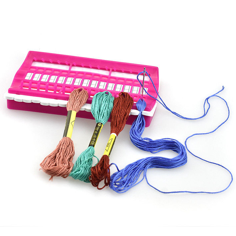 30 Positions Cross Stitch Row Line Tool Set Sewing Needles Holder Embroidery Floss Thread Organizer DIY Sewing Tools 3 Colors