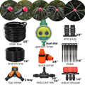 MUCIAKIE Automatic Drip Irrigation Tree Shrub Kit 3/8-in Main Line Hose Watering Container Garden Plants Water Timer Controller
