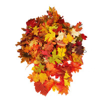 500g/Bag Assorted Artificial Maple Leaves Mixed Fall Colored For Wedding Home Halloween New Year Events And Outdoor Decoration