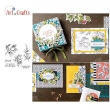 Прозрачный штамп с растительными принтами для скрапбукинга, открыток для рукоделия, украшения для детских фотоальбомов