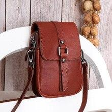 Women Messenger Bags Cell Phone Cellphone Bag Genuine Leather Shoulder Crossbody Bags Bolsas ladies Daily Use Mini Women Wallet