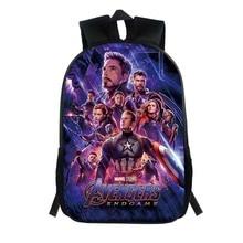 2019 Boy Backpack for School Marvel Avengers Endgame 3D Kids Bookbag Bag Teen Child Fashion Bags Toddlers