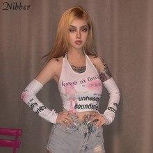 Nibber – hauts court extensible pour femmes, Slim, doux, à la mode, imprimé Harajuku, pour les loisirs et les vacances, 2019
