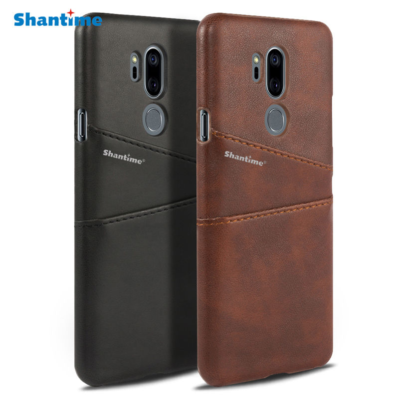 Luxury Pu Leather Wallet Case For LG G7 ThinQ Phone Bag Case For LG G7 ThinQ Business Card Slots Case
