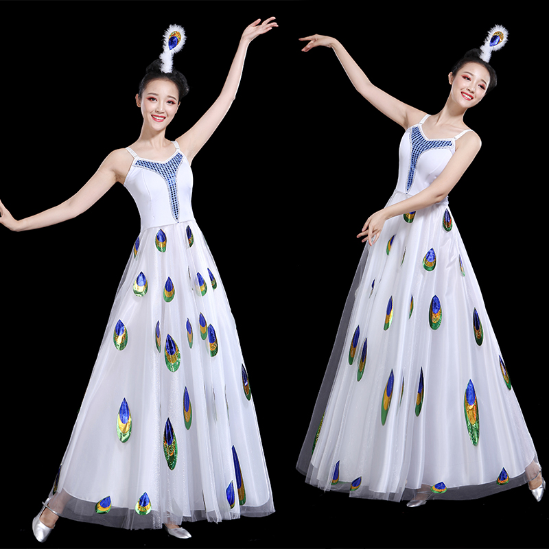 2021 Fairy Flamenco Dress Adult Stage Costume Classical Dance Costume Concert Outfits Ballroom Dance Clothes Evening Dresses