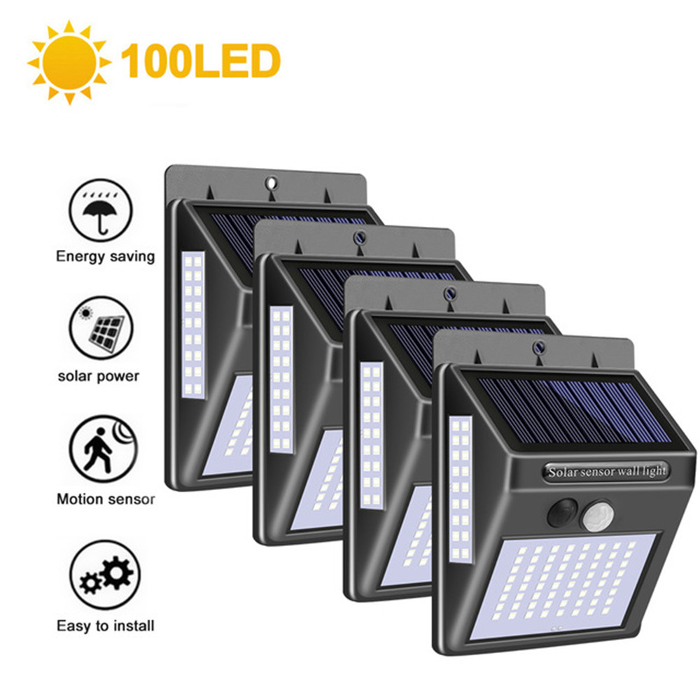 1-4pcs Luz Solar Light 3 Side Outdoor Waterproof Solar Motion Sensor Lights Security Wall Lighting For Garden Yard With 3 Modes