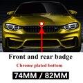 82 мм/74 мм Эмблема передняя крышка заднего багажника значок 2 штыря для bmw G01 G30 F11 F15 F31 F34 E36 E39 E46 E60 E87 E91 X5 E70 X6 автомобильная наклейка