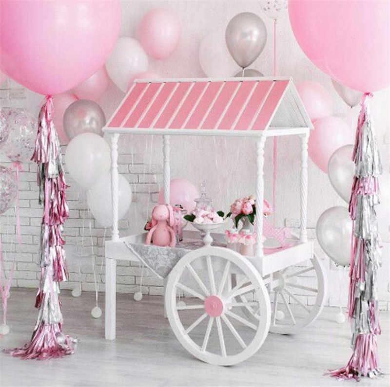 5 teile/los Gemischt DIY Seidenpapier Quaste Girlande für Hochzeit Kinder Einhorn Geburtstag Party Dekorationen Baby Dusche Begünstigt Versorgung