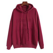 2019 Womens Hoodies Winter Autumn Female Korea 3D Embossed Hooded Sweatshirt Kawaii Streetwear Moletom Feminino Inverno