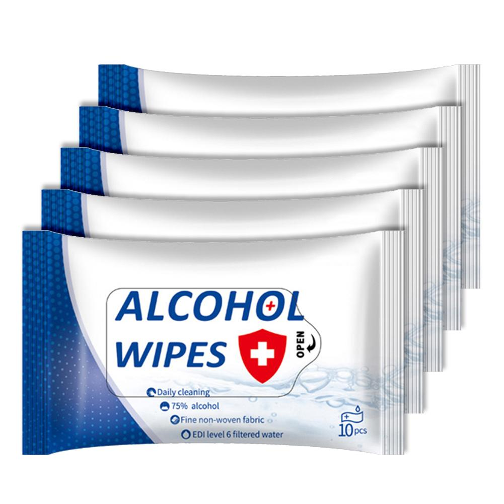 5 Packs Disposable Sterilization Hand Cleansing Alcohol Wet Wipes Paper Tissue носовые платочки In Stock Fast Shipments 2020
