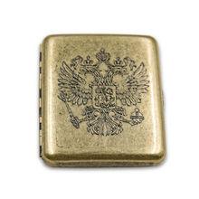 Copper Retro Queen Crown Russia Badges Pure Brass Cigarette Case Box Smoking Accessories Me