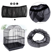 Parrot Bird Bird Cage Accessories Airy Mesh Cage Net Nylon Mesh Bird Cage Cover Shell Skirt Net Easy Cleaning Seed Catcher Guard
