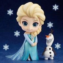 Mrożone Anna Elsa królowa śniegu Olaf Kristoff Sven Anime lalki figurka zabawka dla dzieci zestaw dzieci urodziny prezenty