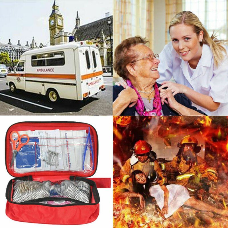 New 180Pcs First Aid Kit Emergency Bag Home Car Outdoor American Red Cross Guide Set