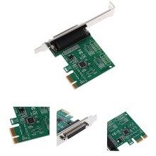 Высокоскоростные детали для принтера, аксессуары для экспресс-карт, PCI-E К LPT конвертеру, прочный 25pin Plug And Play, надежные компоненты адаптера