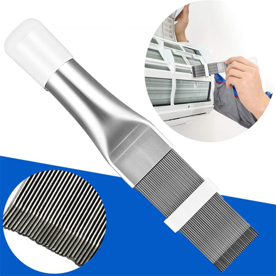 SEAAN Cleaning Tool Air Conditioner Fin Repair Tool Coil Comb A/C HVAC Condenser Radiator Universal Folding Brush Cleaning Tool
