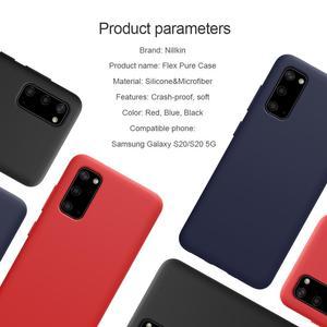 Image 2 - NILLKIN Flex pur étui pour samsung Galaxy S20/S20 Plus/S20 Ultra couverture Silicone liquide lisse protection arrière coques de téléphone