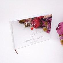 25*18 см, на заказ, Mr& Mrs, красное сердце, свадебная подпись, гостевая книга, акриловое зеркальное покрытие, персонализированные, пустые, для скрапбукинга, вечерние, Подарочные
