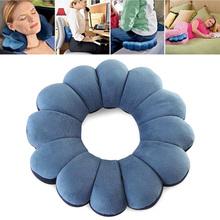 High Quality Pillow New Cervical Massage Plum Neck Sports Car Flower Twist Travel Outdoor Pillow Pillow Decration Shape F0W3 tanie tanio Dekoracyjne 100tc Wydrążone włókna 100 bawełna Antystatyczna Klasa a Blue flower Neck Pillow OBLONG 0-0 5 kg