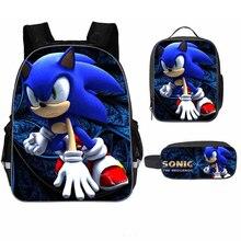 New 16 Inch Mario Bros Sonic The Hedgehog Cartoon Kids Backp