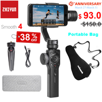 Zhiyun Smooth 4 3 Axis Handheld Smartphone Gimbal Stabilizer for iPhone 11 Pro XS X Samsung Portable Bag Case PK DJI OSMO Mobile