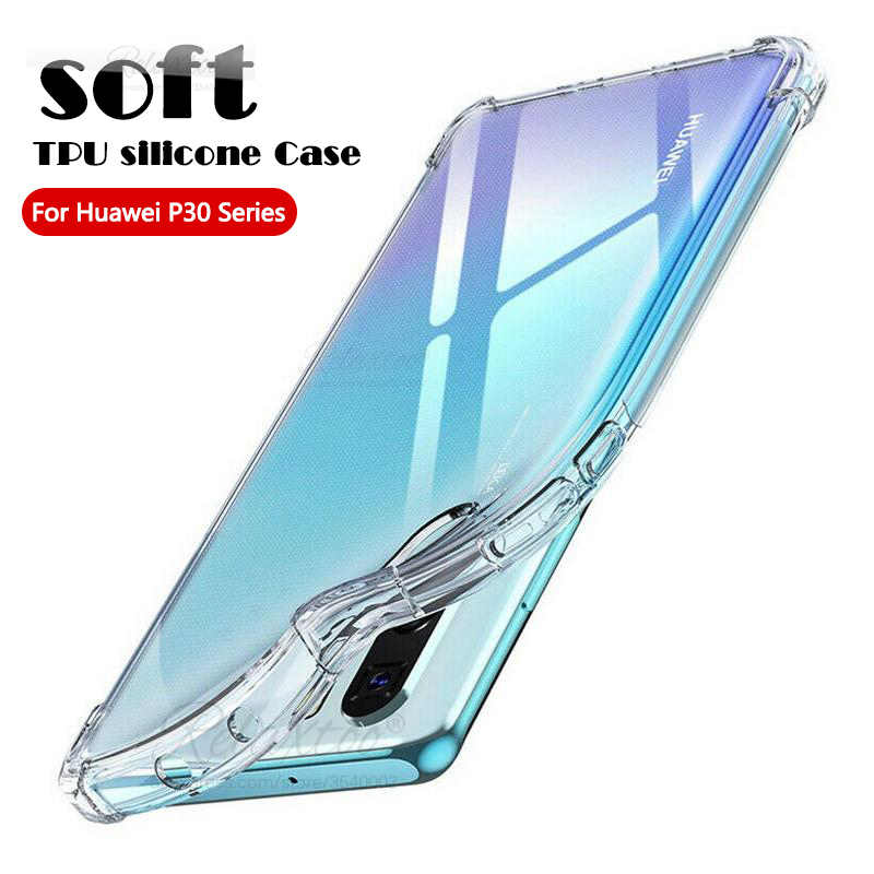 Schokbestendig Soft Silicon Telefoon Case Voor Huawei P30 P40 Pro Lite E Clear Case Tpu Bescherming Cover Huawey P 40 30 P30lite P30pro