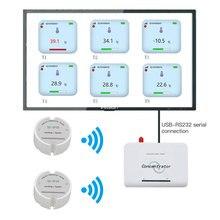 Wireless Temperatur Sensor Sender Temperatur Datenlogger Fernbedienung Drahtlose Temperatur Monitor für Gefrierschrank 433/868/915Mhz