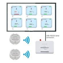 Wireless Temperature Sensor Transmitter Temperature Data Logger Remote Wireless Temperature Monitor for Freezer 433/868/915Mhz