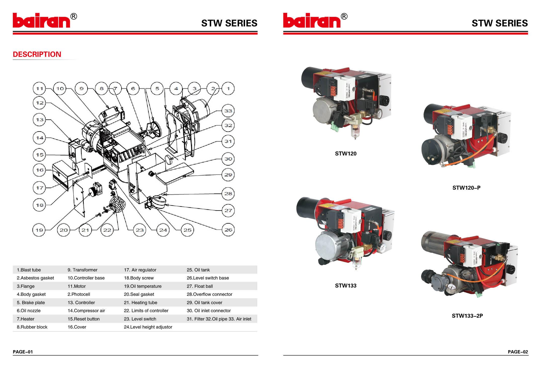 Горелка для отработанного масла BAIRAN STW146-2