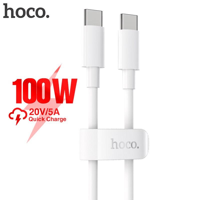 """HOCO 100W USB C ל-usb סוג C כבל 5A 100W פ""""ד מהיר טעינה עבור Macbook iPad תמיכה טעינה מהירה עבור Samsung S20 Xiaomi 10 פרו"""