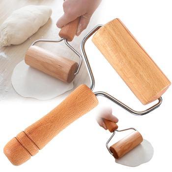 Wałek drewniany wałek do ciasta ręcznego do ciasta kremówki ciasto na ciasteczka Chapati makaron piekarnia Pizza Narzędzia kuchenne tanie i dobre opinie CN (pochodzenie) Wooden Rolling Pin Ekologiczne Na stanie Rolling pins ciastka deski Drewna Wałki do ciasta