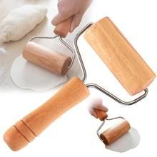 Rolo de rolo de madeira, rolo de massa de mão para pastelaria, fondant, massa de biscoito, chapati, massas, padaria, pizza. Ferramenta da cozinha