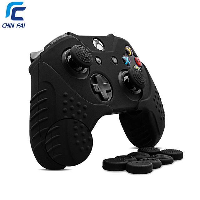 CHINFAI Silicone Case for Microsoft Xbox One Anti slip Protective Skin For Xbox one S Controller For Xbox One X with Thumb Grips