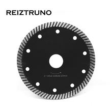 REIZTRUNO 5 Turbo continuous Diamond Saw Blades For Granite concrete marble Cutting tools, 8 MM Segments,Dry or Use